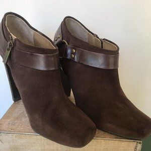 Jessica Simpson Brown Suede Leather Heels